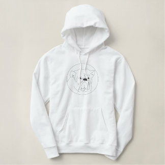 Embroidered Bulldog Hoodie