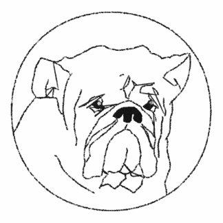 Embroidered Bulldog Women T-Shirt