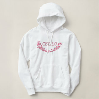 Embroidered Cello Music Hoodie