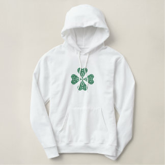 Embroidered Celtic Heart Shamrock Sweatshirt