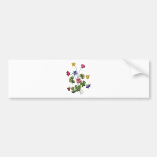 Embroidered Colorful Wood Sorrel Bumper Sticker