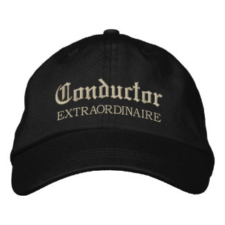 Embroidered Conductor Extraordinaire Music Cap Embroidered Hats