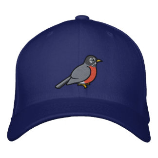 Embroidered cute American Robin Embroidered Hat
