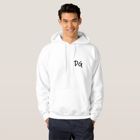 Embroidered DG (Dan Goodwin) Hoodie White