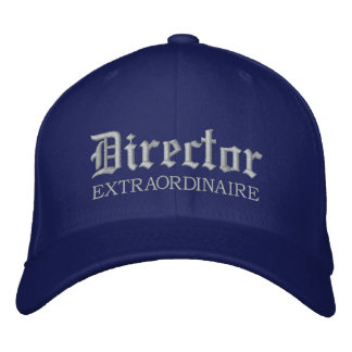 Embroidered Director Extraordinaire Music Cap Baseball Cap