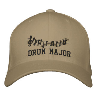 Embroidered Drum Major Band Cap Baseball Cap