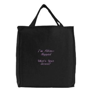 Embroidered Fibro Fog Bag - Lilac lettering