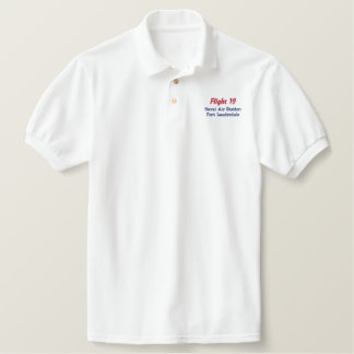 EMBROIDERED Flight 19 Embroidered Polo Shirt