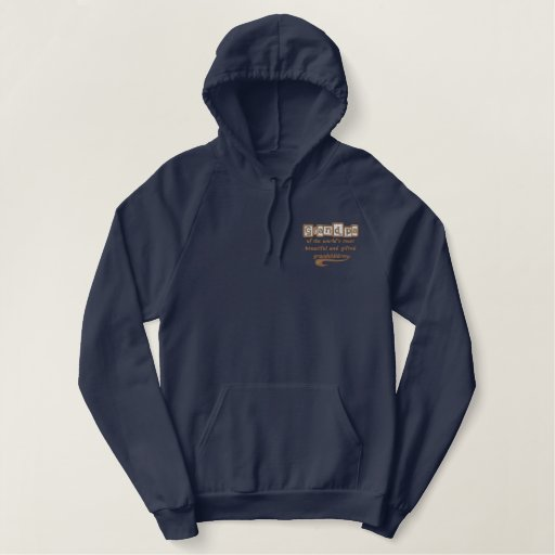 Embroidered Grandpa of Gifted Grandchildren Embroidered Hoodies