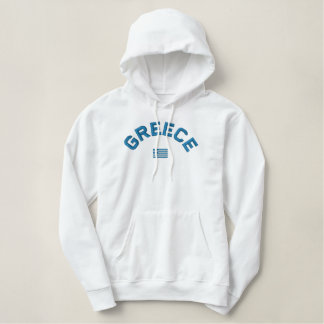 Embroidered Greece pullover hoodie - ΕΛΛΑΣ!