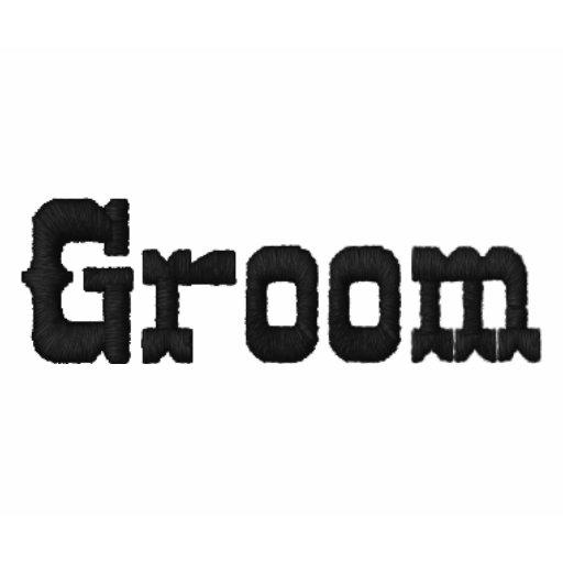 Embroidered Groom Shirt