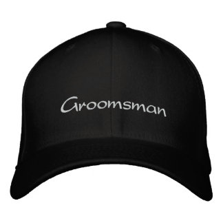 EMBROIDERED GROOMSMAN WEDDING CAP EMBROIDERED HAT