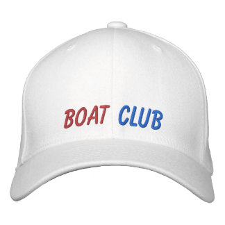 Embroidered Hat Boat Club Baseball Cap