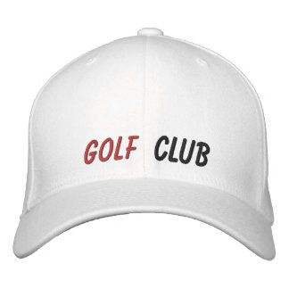 Embroidered Hat Golf Club Embroidered Hats