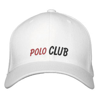 Embroidered Hat Polo Club