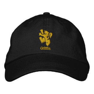 Embroidered Heraldic Lion or Griffin Cap