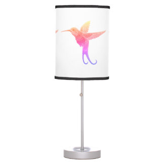 Embroidered Hummingbird Table Lamp