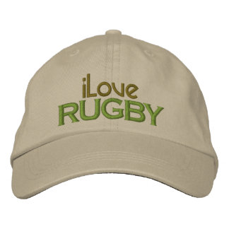 Embroidered I Love Rugby Cap