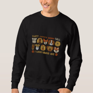 Embroidered I Love them All Dogs Embroidered Sweatshirt