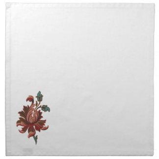 Embroidered Like Rose Flower Napkin