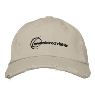 Embroidered Logo Hat Brown