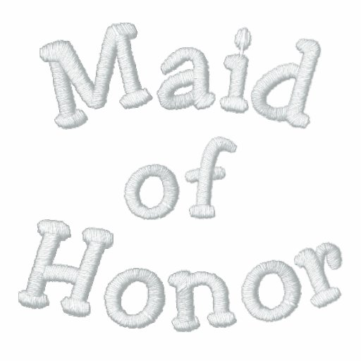 Embroidered Maid of Honor Shirt