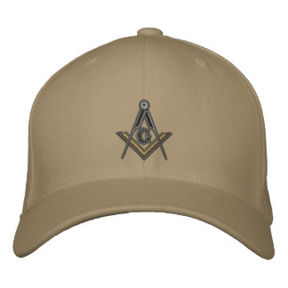 Embroidered Masonic Square and Compass Embroidered Hat
