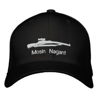 Embroidered Mosin Nagant Black Fitted Hat Embroidered Baseball Caps