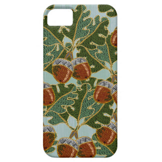 Embroidered Oak Leaves and Acorns iPhone 5 Cases