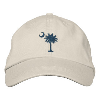 Embroidered Palmetto & Crescent Cap (SC Flag)
