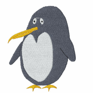 Embroidered Penguin Women T-Shirt