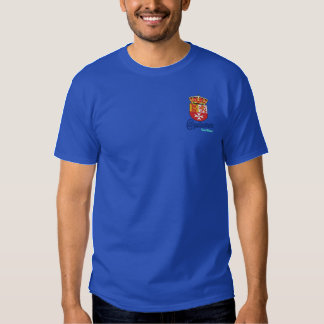 Embroidered pole embroidered T-Shirt