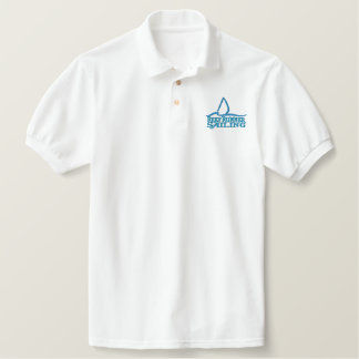 Embroidered POLO shirt -Throwback Reef Runner Logo
