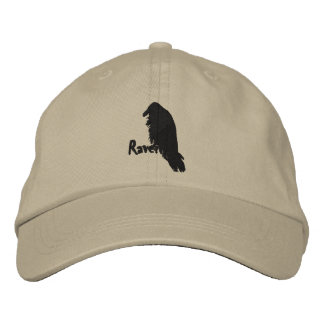 Embroidered Raven on Raven Hat