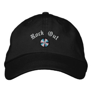 Embroidered Rock Out CD Compact Disc Embroidered Hat