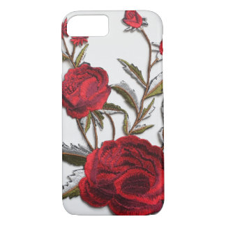 Embroidered rose red roses embroidery trendy iPhone 8/7 case