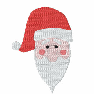 Embroidered Santa Women T-Shirt