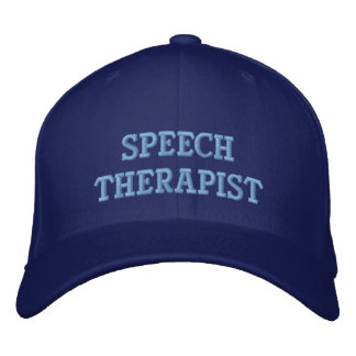 Embroidered Speech Therapist Cap
