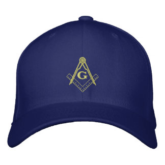 Embroidered Square and Compass Ballcap Embroidered Baseball Cap