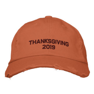 Embroidered Thanksgiving  - Change to Current Year Embroidered Hat