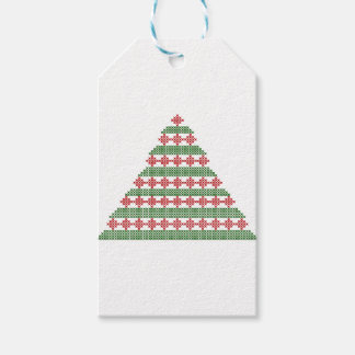 Embroidered tree gift tags