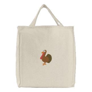 Embroidered Turkey Bag