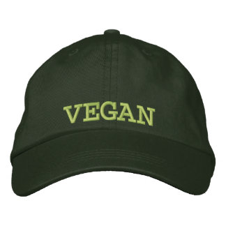 Embroidered Vegan Baseball Cap/Hat Embroidered Hat