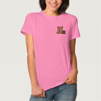 Embroidered Yorkie Women T-Shirt Polos
