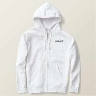 Embroidered Zip Hoodie Men's Zizzago
