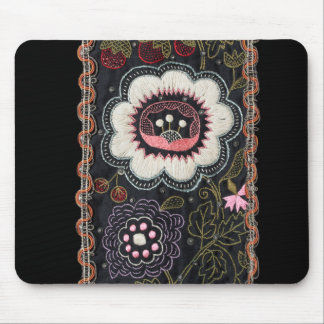 Embroidery Enthusiast Vintage Hungarian Flower Mouse Pad