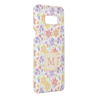Embroidery Flower Pattern Monogram Uncommon Samsung Galaxy S8 Plus Case