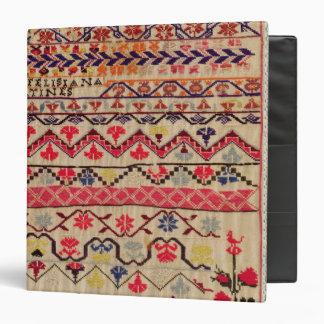 Embroidery sampler 3 ring binders