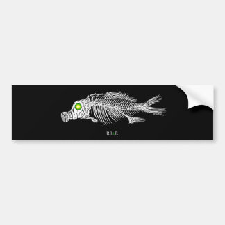 emek_bp_fish_gasmask_sticker bumper sticker