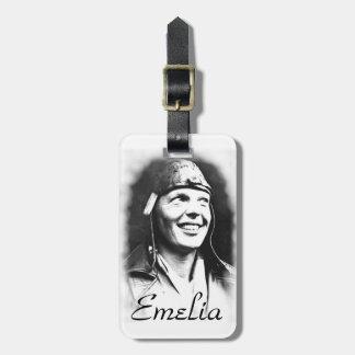 Emelia Earhart - Pilot Luggage Tag